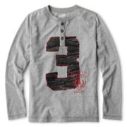 Arizona Long-Sleeve Henley Graphic Tee - Boys 6-18