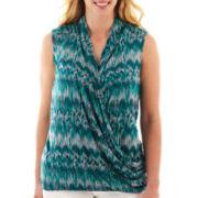 a.n.a® Knit Wrap Tank Top - Plus