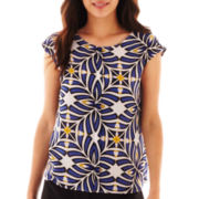 Worthington® Sleeveless Shell Blouse - Petite