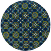 Country Cross Indoor/Outdoor Round Rugs