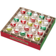 Shiny Brite Holiday Splendor Set of 25 1