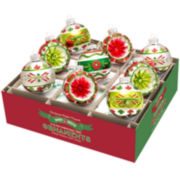 Shiny Brite Holiday Splendor Set of 9 2½