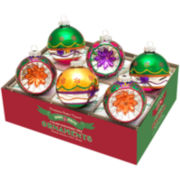 Shiny Brite Christmas Carnival Set of 6 3¼