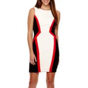Bisou Bisou® Short-Sleeve Textured Colorblock Dress