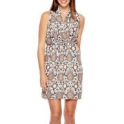 19 Cooper Sleeveless Tie-Waist Dress