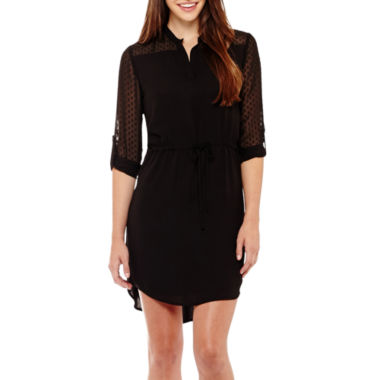 jcpenney.com | Roxberi 3/4-Sleeve Lace Shirtdress