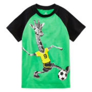Okie Dokie® Graphic Raglan Tee - Preschool Boys 4-7