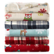 JCPenney Home™ Velvet Plush Holiday Throw