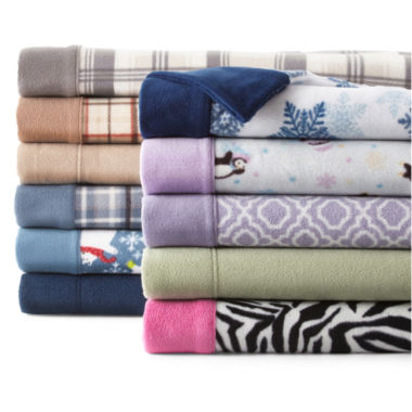 jcpenney.com | Sunbeam® Super-Soft Heavyweight Fleece Sheet Set