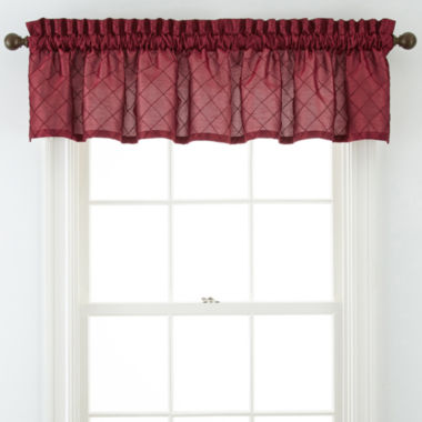 jcpenney.com | Royal Velvet® Lawton Rod-Pocket Pleated Valance
