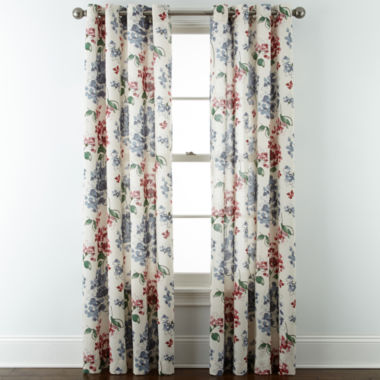 jcpenney.com | JCPenney Home™ Cotton Classics Floral Grommet-Top Curtain Panel