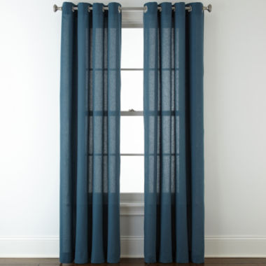 jcpenney.com | JCPenney Home™ Cotton Classics Solid Grommet-Top Curtain Panel