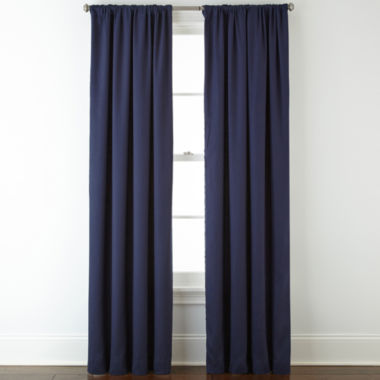 jcpenney.com | JCPenney Home™ Jenner Cotton Twill Rod-Pocket/Back-Tab Thermal Curtain Panel