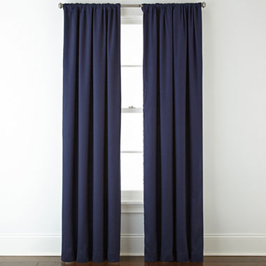 JCPenney Home Twill Thermal Rod Pocket/Back Tab Curtain Panel