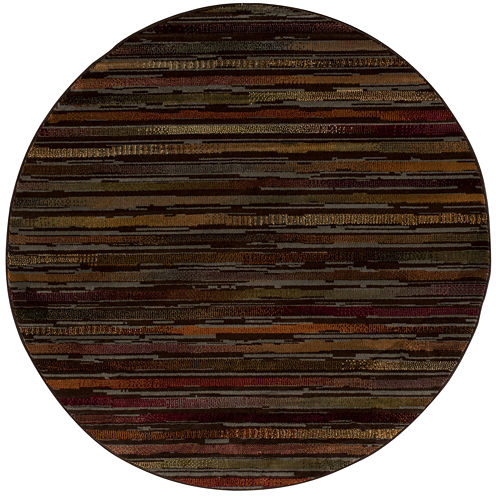 Nourison® Stripes Round Rug