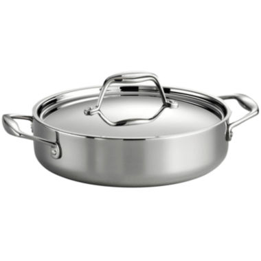 jcpenney.com | Tramontina Gourmet Tri-Ply Clad 18/10 Stainless Steel Induction-Ready Braiser with Lid