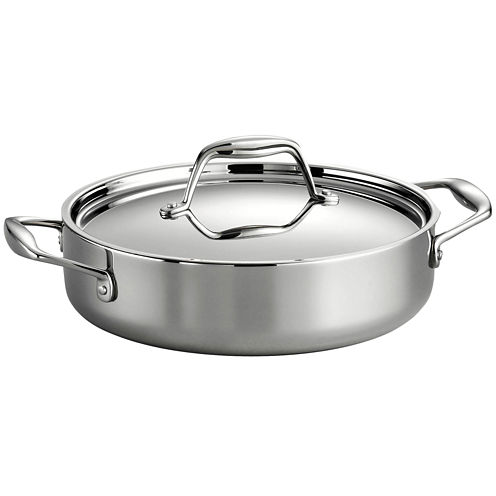 Tramontina Gourmet Tri-Ply Clad 18/10 Stainless Steel Induction-Ready Braiser with Lid
