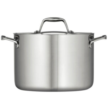 jcpenney.com | Tramontina Gourmet 5-qt. Tri-Ply Clad 18/10 Stainless Steel Induction-Ready Dutch Oven with Lid
