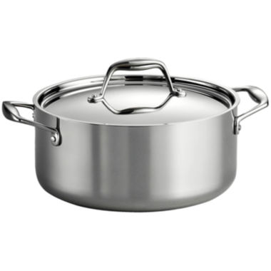 jcpenney.com | Tramontina Gourmet 6-qt. Tri-Ply Clad 18/10 Stainless Steel Induction-Ready Sauce Pot with Lid