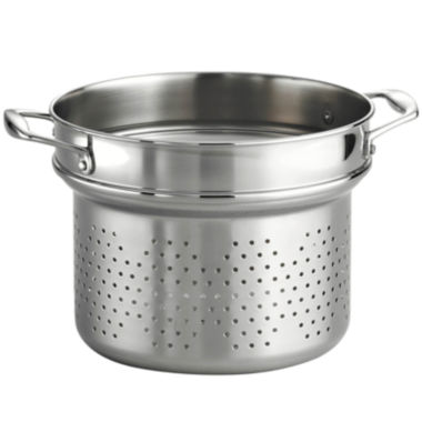"jcpenney.com | 18/10 Stainless Steel 9½"" Pasta Insert for Tramontina Gourmet 8-qt. Tri-Ply Clad Stock Pot"
