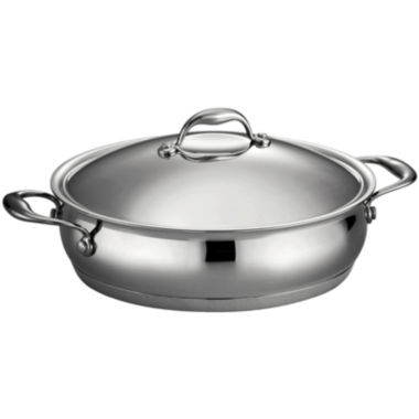 jcpenney.com | Tramontina Gourmet Domus 5-qt. 18/10 Stainless Steel Induction-Ready Braiser with Lid