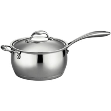jcpenney.com | Tramontina Gourmet Domus 4-qt. 18/10 Stainless Steel Induction-Ready Saucepan with Helper Handle and Lid