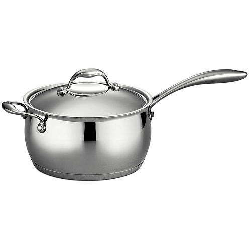 Tramontina Gourmet Domus 4-qt. 18/10 Stainless Steel Induction-Ready Saucepan with Helper Handle and Lid