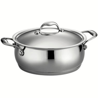 jcpenney.com | Tramontina Gourmet Domus 5-qt. 18/10 Stainless Steel Induction-Ready Dutch Oven with Lid