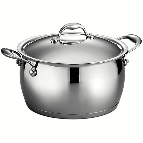 Tramontina Gourmet Domus 18/10 Stainless Steel Induction-Ready Stock Pot with Lid