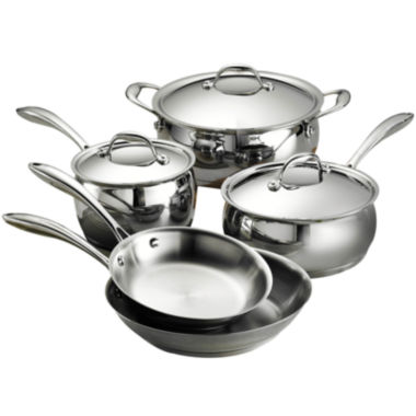 jcpenney.com | Tramontina Gourmet Domus 8-pc. 18/10 Stainless Steel Induction-Ready Cookware Set
