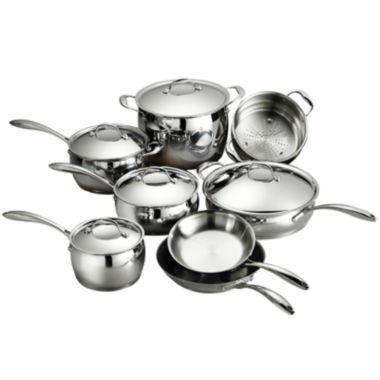 jcpenney.com | Tramontina Gourmet Domus 13-pc. 18/10 Stainless Steel Induction-Ready Cookware Set