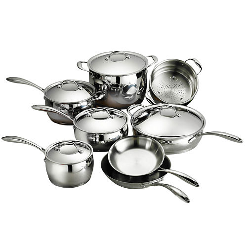 Tramontina Gourmet Domus 13-pc. 18/10 Stainless Steel Induction-Ready Cookware Set