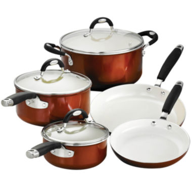 jcpenney.com | Tramontina Style Ceramica 8-pc. Metallic Copper Cookware Set