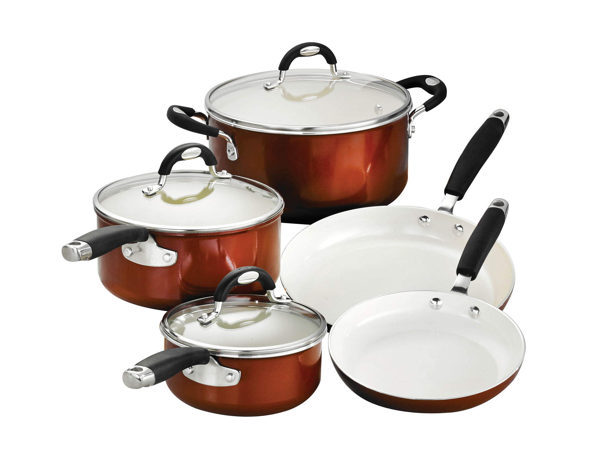 Cheap Bella 11 Pc Ceramic Aluminum Nonstick Cookware Set