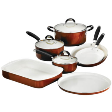 jcpenney.com | Tramontina Style Ceramica 10-pc. Metallic Copper Cookware and Bakeware Set