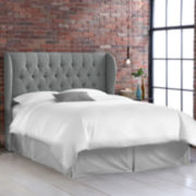 Bristol Linen Tufted Wingback Headboard