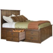 Oak Ridge 6-Drawer Storage Bed