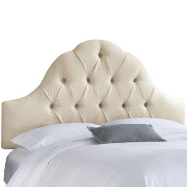 jcpenney.com | Belfort Upholstered Linen Arched Tufted Headboard