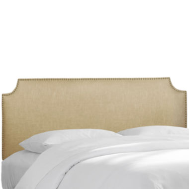 jcpenney.com | Savona Linen Headboard with Nailhead Trim