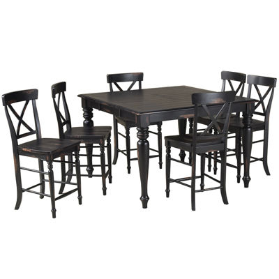 englewood 7-pc. counter-height dining set - jcpenney
