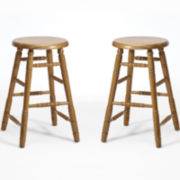 Oakmont Set of 2 Backless Barstools