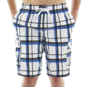 U.S. Polo Assn.® Bold Line Plaid Cargo Swim Trunks