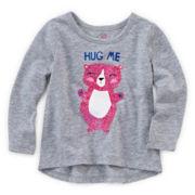 Okie Dokie® Graphic Glitter Tee - Baby Girls newborn-24m