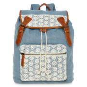 SM New York Crochet-Trim Cargo Backpack