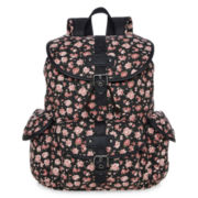 SM New York Glitter-Trim Floral Print Cargo Backpack