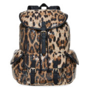 SM New York Sequin-Flap Cargo Backpack