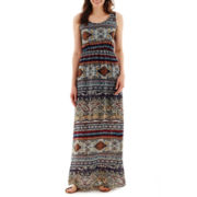 True Color Sleeveless Cinch Waist Maxi Dress - Tall