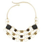 3-Row Geometric Statement Necklace
