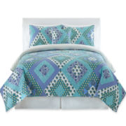 Blue Kerala 3-pc. Quilt Set & Accessories