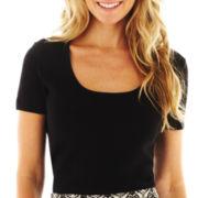 Liz Claiborne Essential Short-Sleeve Sweater